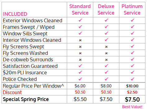 Window Cleaning Packages